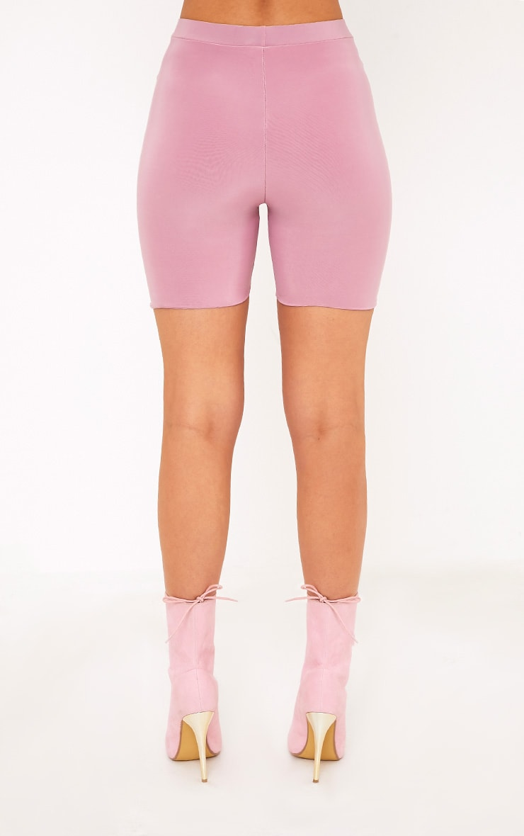 Bella Pink Slinky High Waisted Cycle Shorts 4