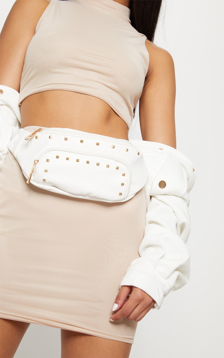 White Studded Fanny Pack 3