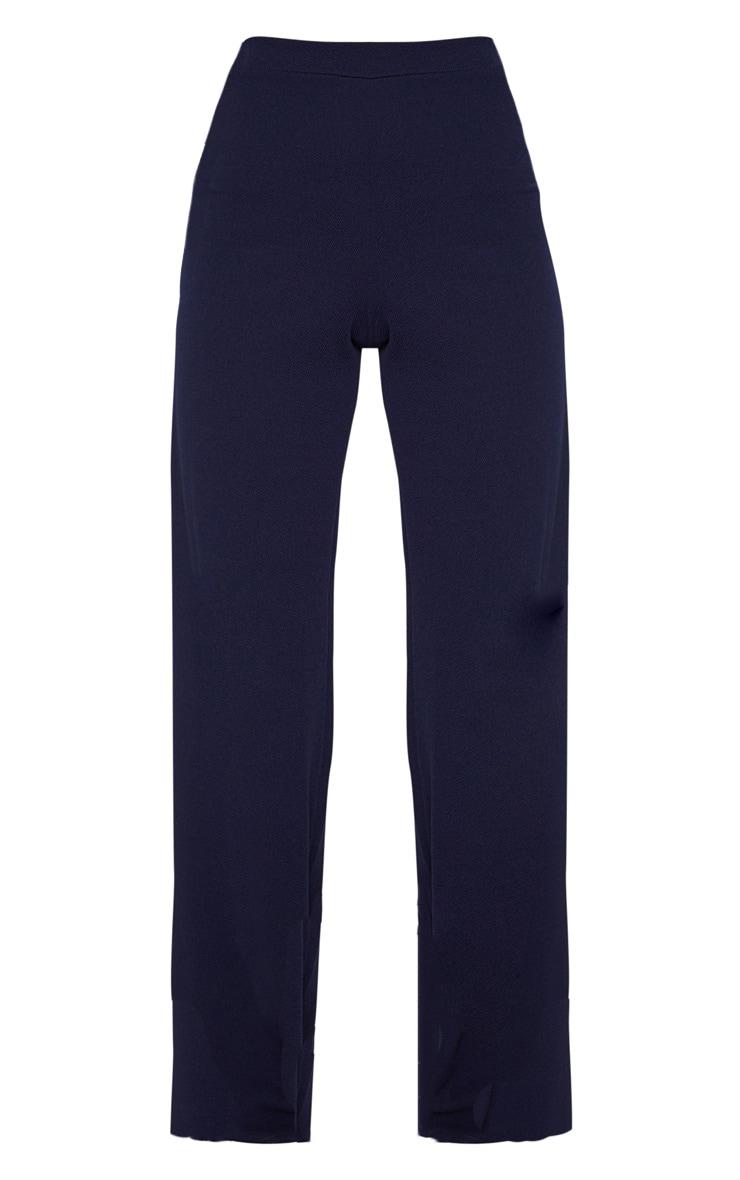 Navy Wide Leg Trouser 3