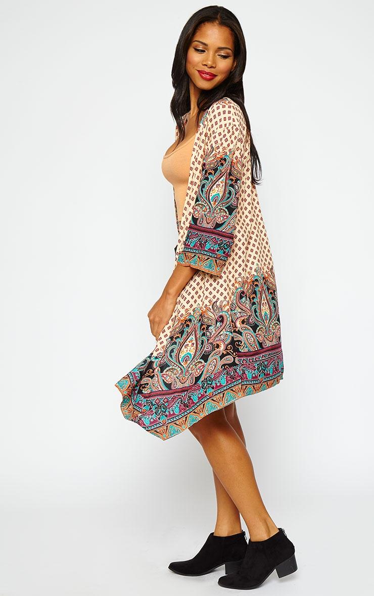 Zosia Cream Multi Print Kimono 4