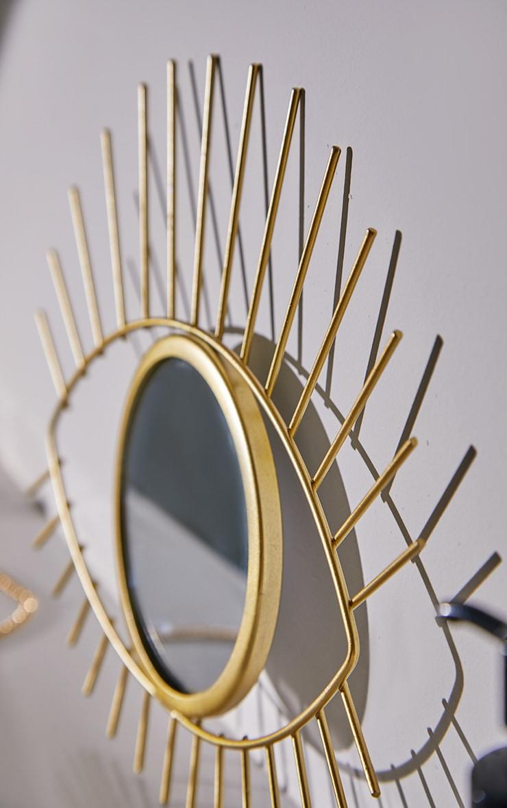 Miroir doré oeil tribal 2