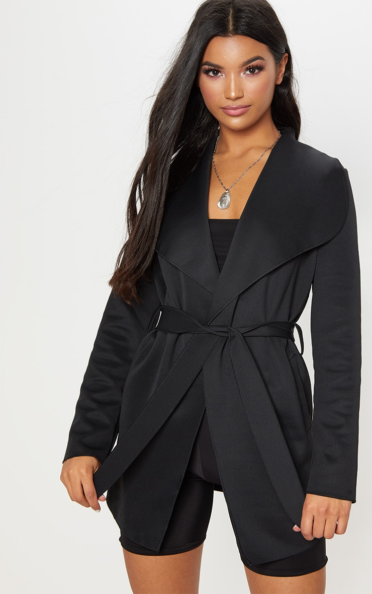 Lyla Black Scuba Waterfall Jacket 1