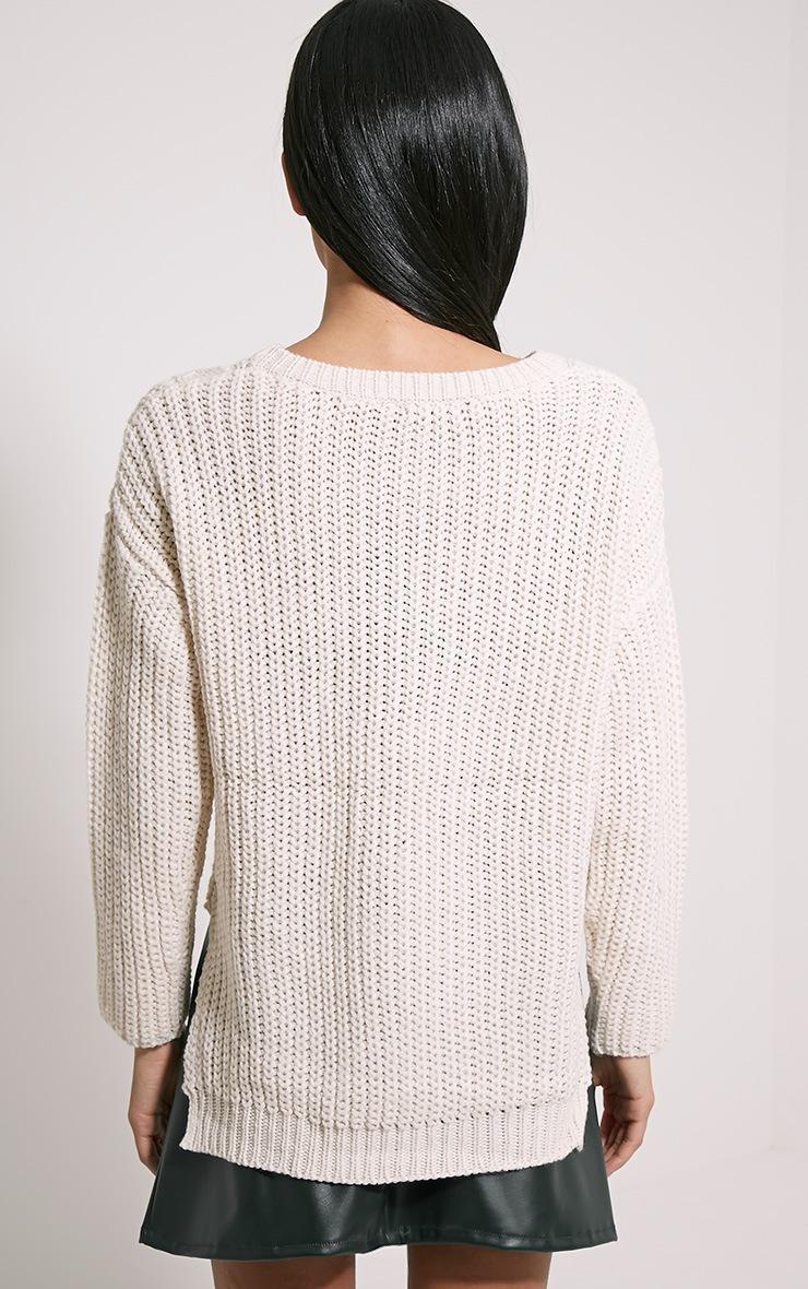 Jada Cream Knitted Jumper 2