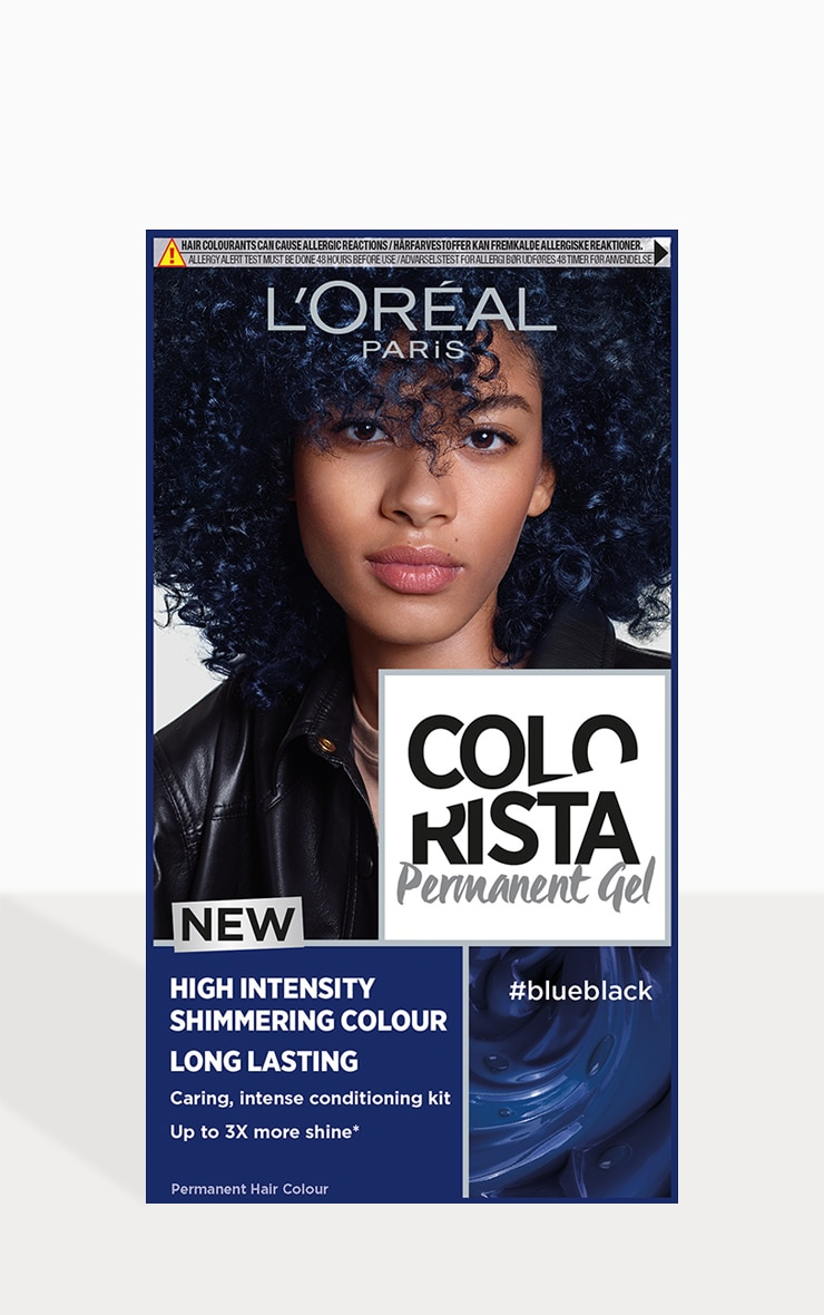 L'Oreal Colorista Blue Black Hair Dye Long-Lasting Permenant Hair Colour 1