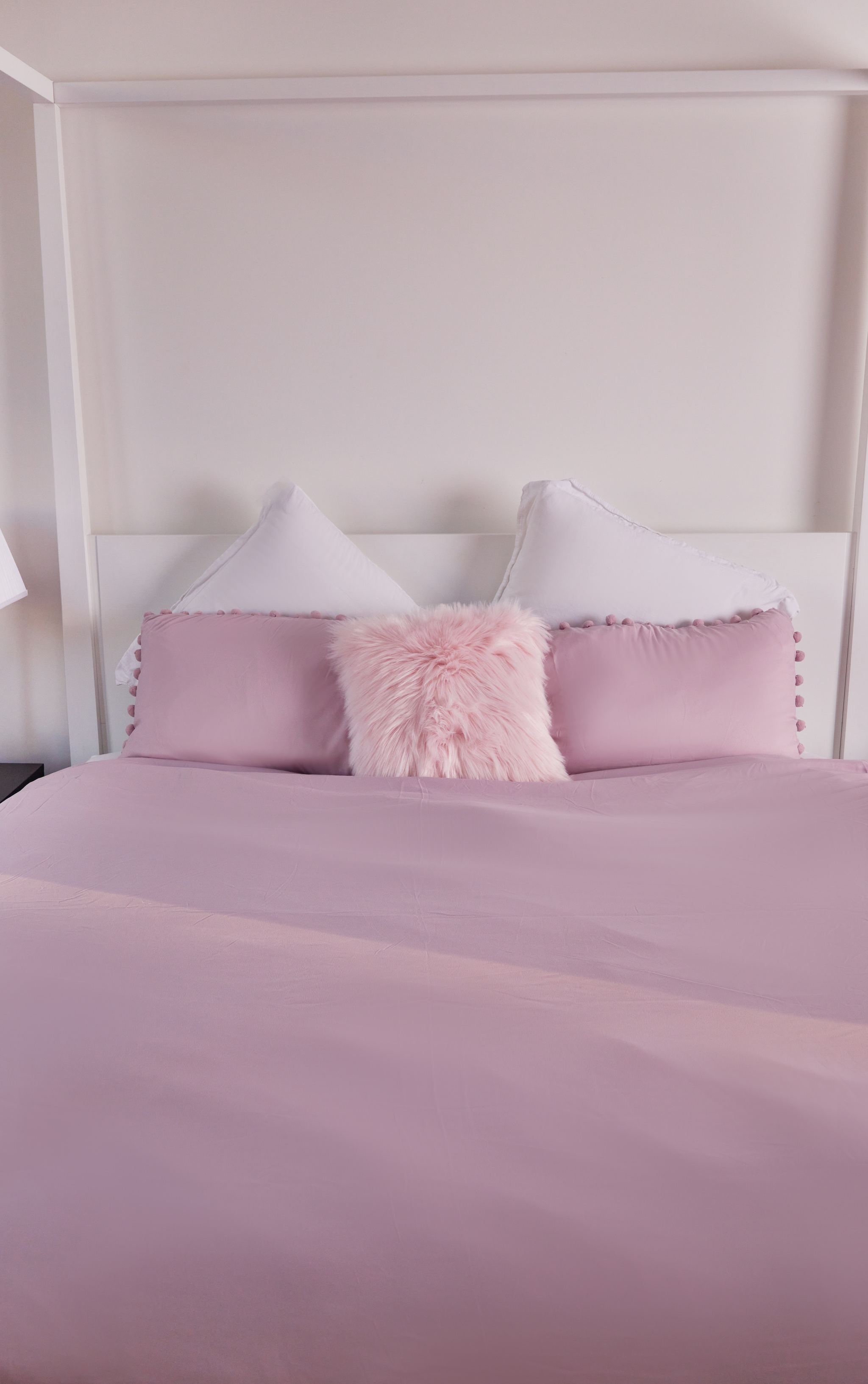 Blush Pom Pom Double Duvet Set 2