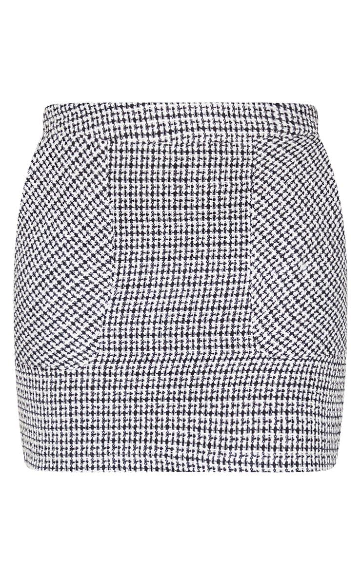 Black Tweed Pocket Detail Mini Skirt 6