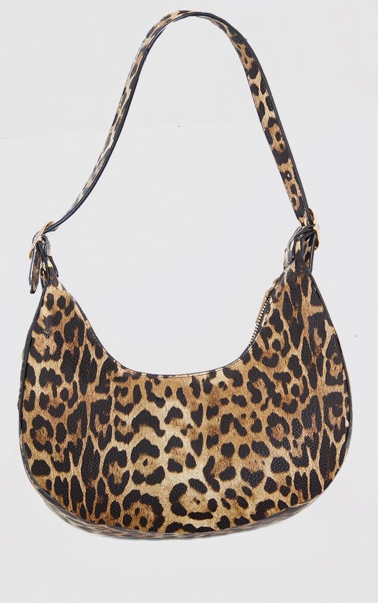Brown Leopard Dipped Shoulder Bag 3