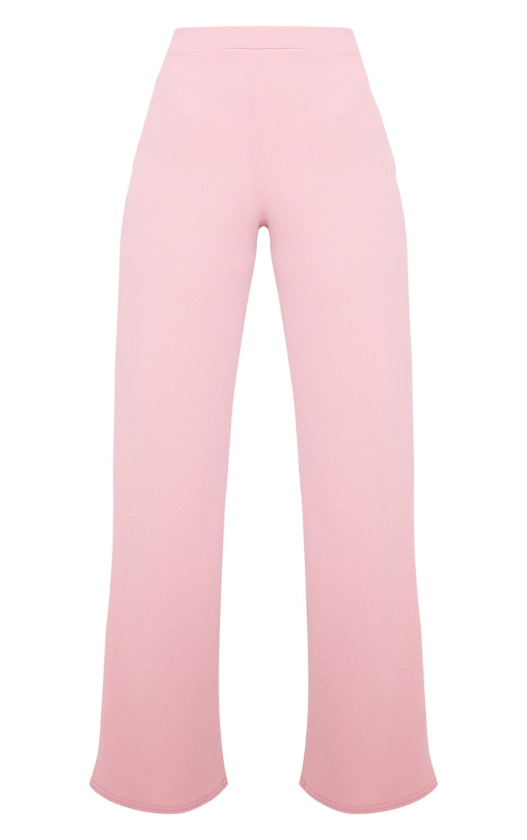 Pink Wide Leg Suit Pants 4