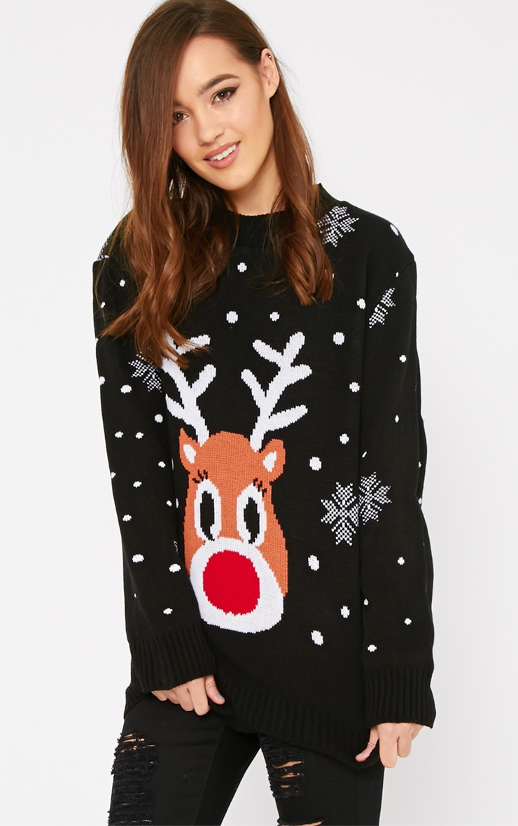 Lexie Black  Rudoloph Christmas Jumper  1