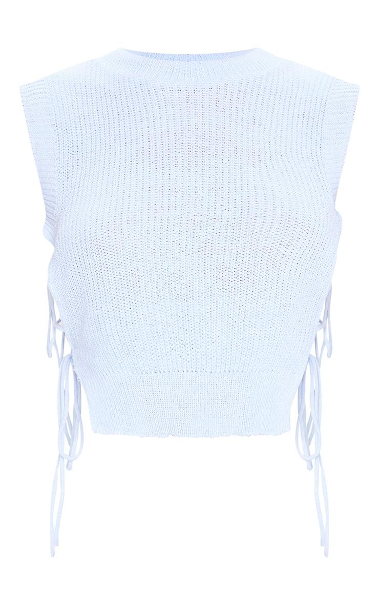Blue Tie Side Knitted Vest 5