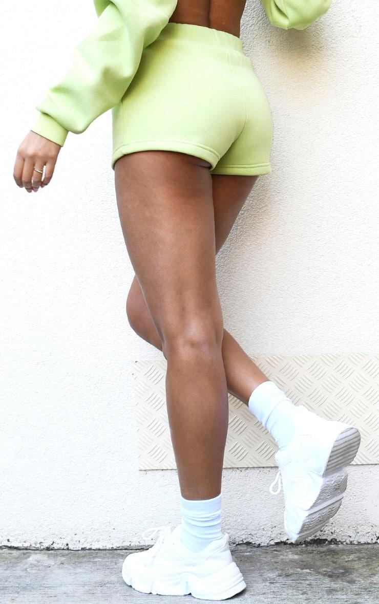 Lime High Waist Sweat Hot Pants 3