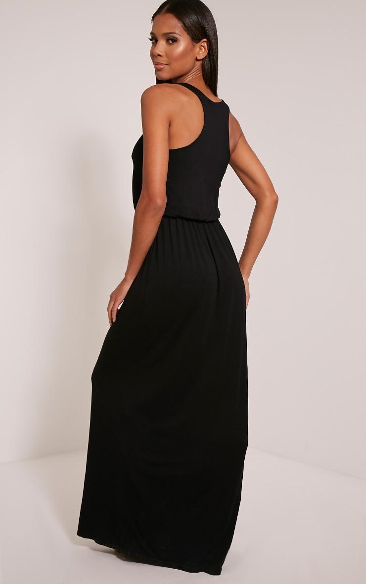 Basic robe dos nageur maxi noire 4