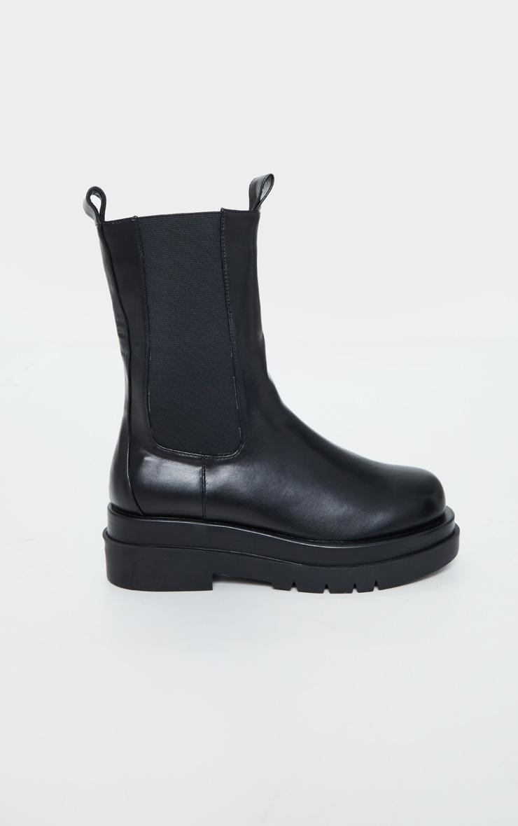 Black Calf High Chunky Chelsea Boot 5