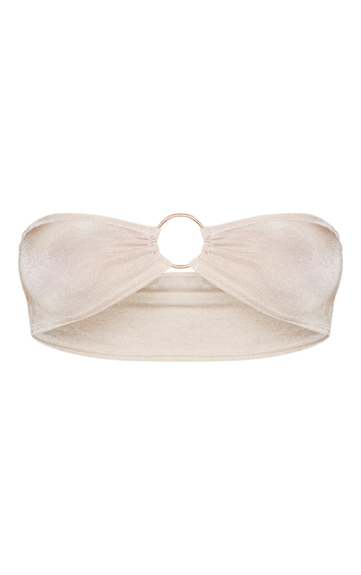 Champagne Slinky Ring Detailed Bandeau Top 3