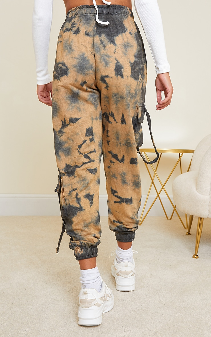 Taupe Cargo Tie Dye Joggers 3