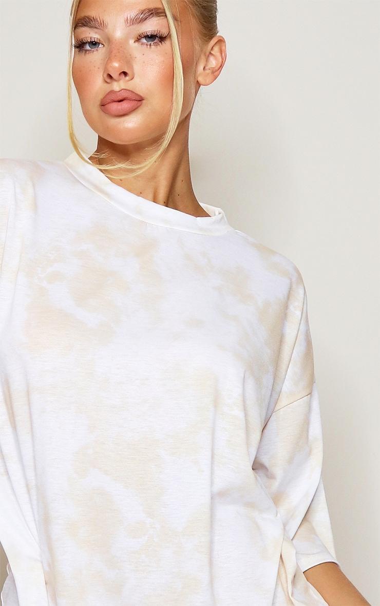 Sand Tie Dye Oversized Boyfriend T Shirt Dress 4