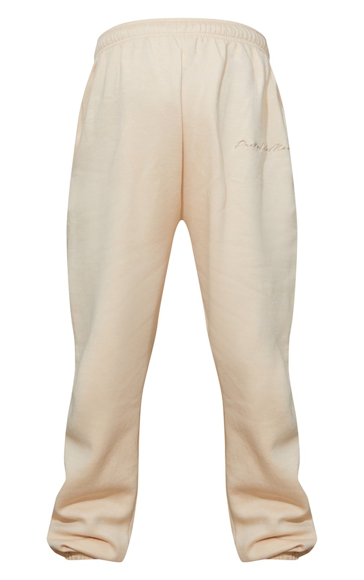 PRETTYLITTLETHING Maternity Camel Embroidered Joggers 5