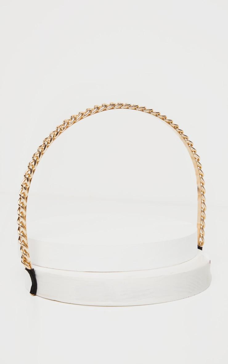 Gold Chain Headband 2