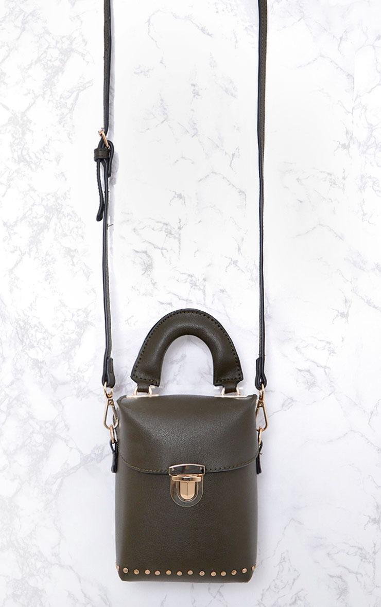 Olive Mini Handled Handbag 5