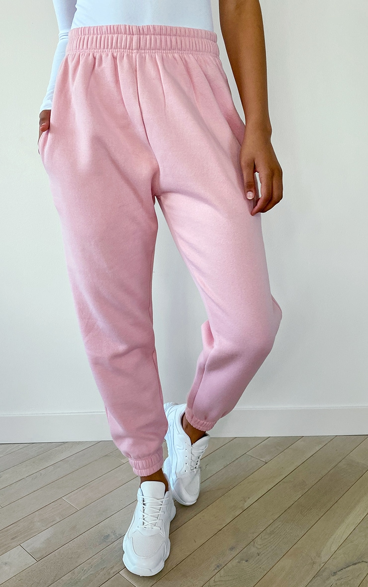PRETTYLITTLETHING Tall Baby Pink Diamante Jogger 2