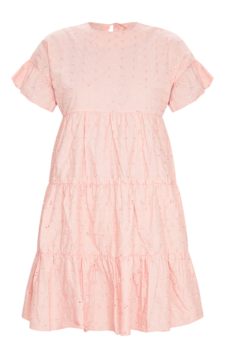 Peach Broderie Anglaise Smock Dress 5