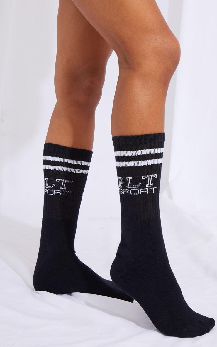 PRETTYLITTLETHING Black Sport Socks 4