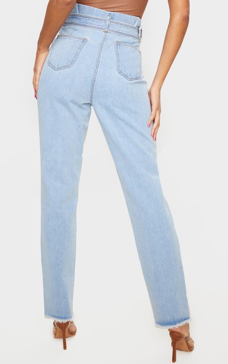 Vintage Wash Distressed Knee Ripped Jeans 3