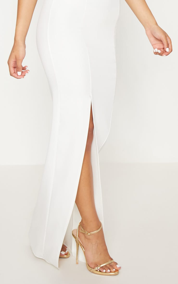 White Cross Strap Detail Maxi Dress 5