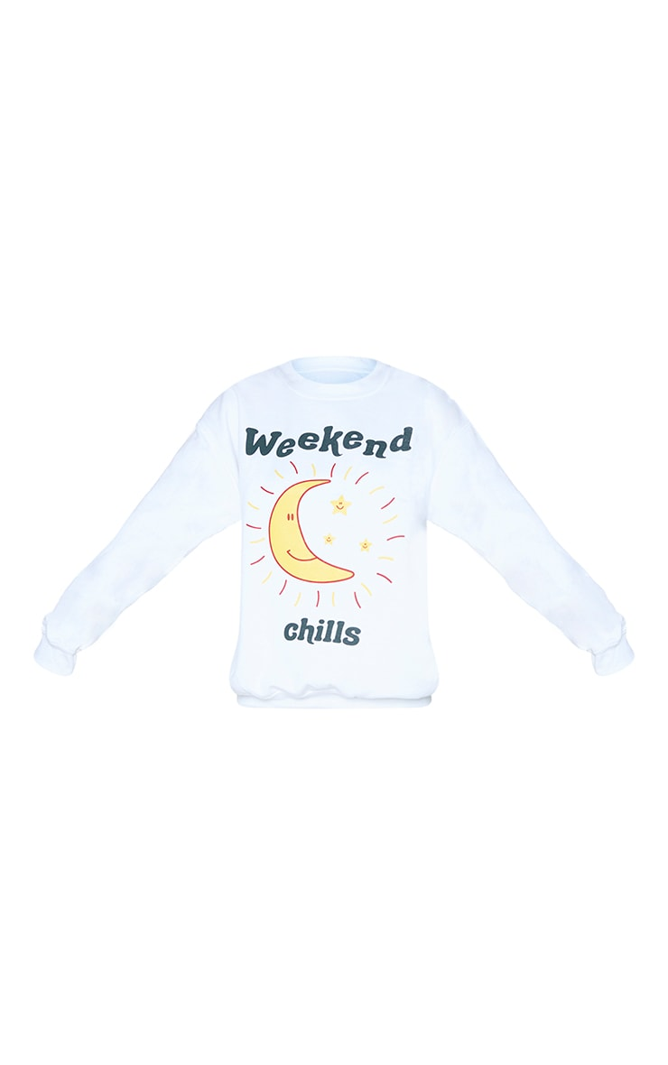 Cream Weekend Chills Oversized Sweatshirt 5