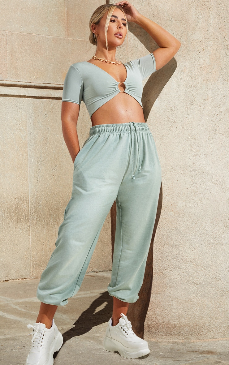 Light Mint Casual Joggers 1