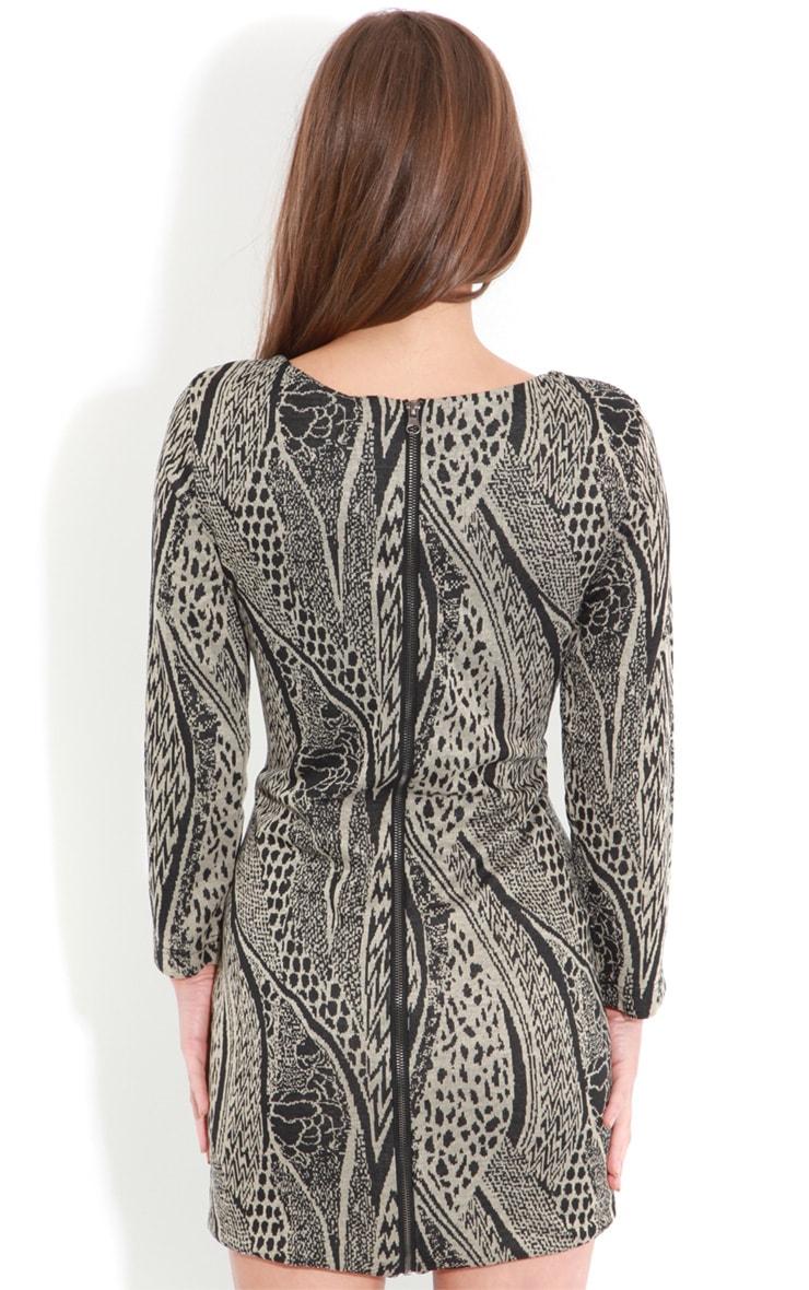Roneet Tribal Print Dress-S 2