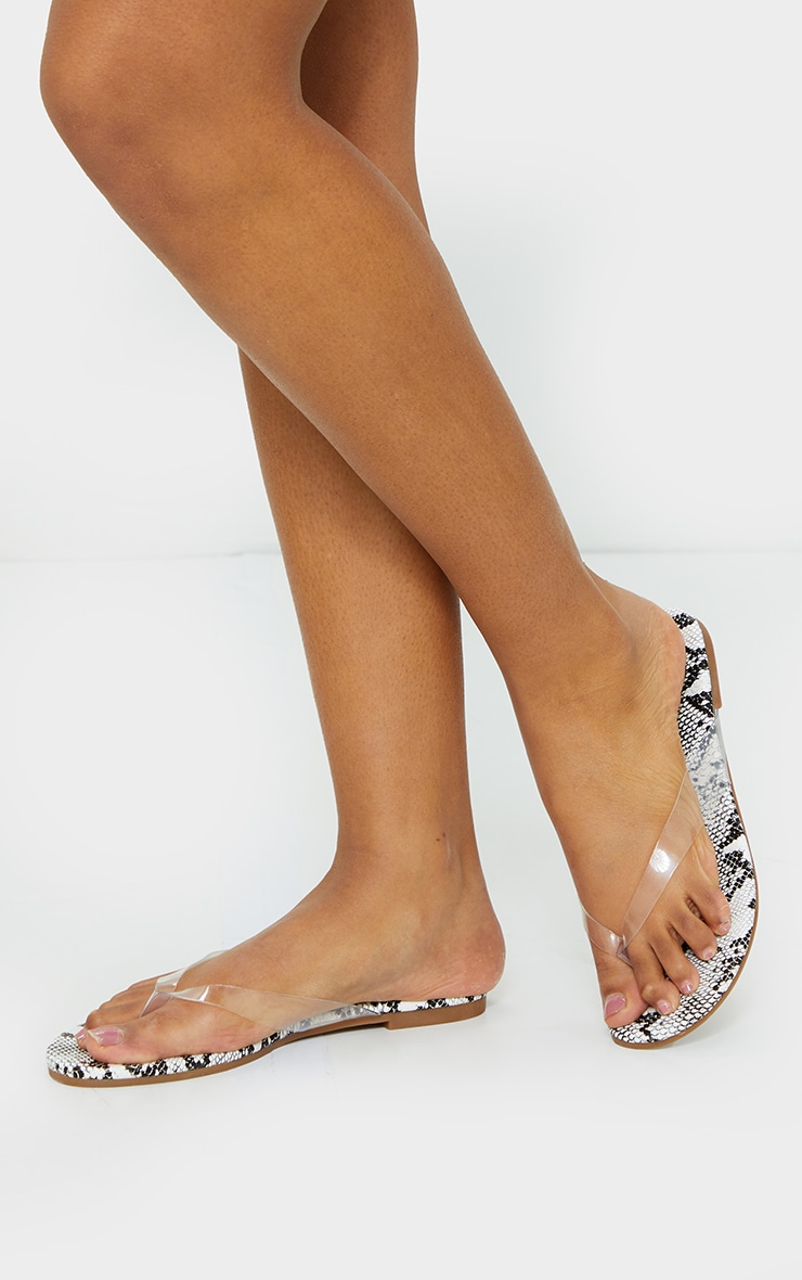 Snake Clear Toe Post Sandals 2
