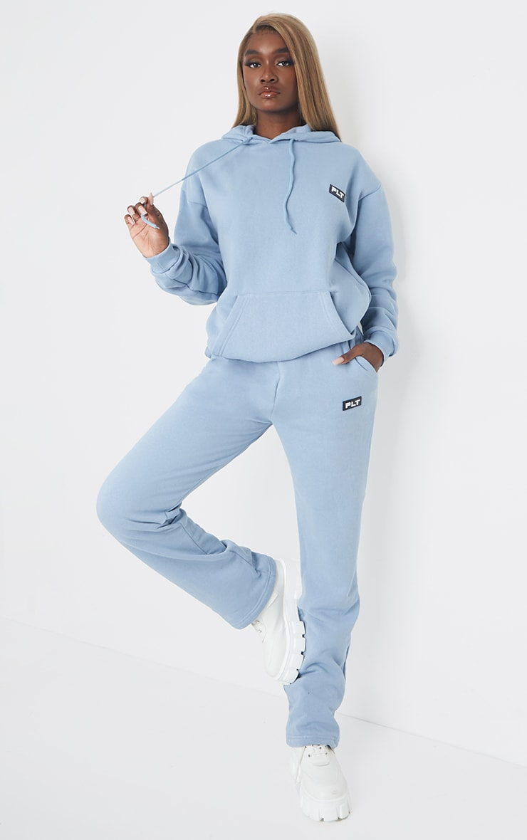 PRETTYLITTLETHING Tall Steel Blue Detail Oversized Hoodie 3