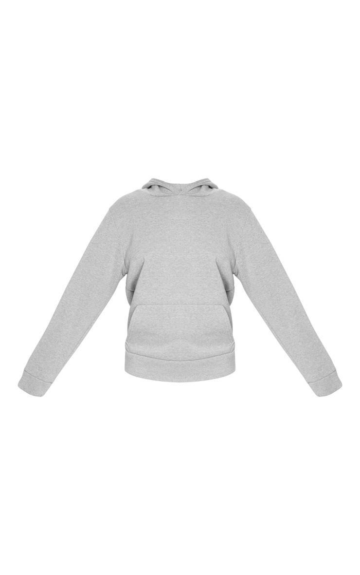 Grey Marl Fleece Hoodie 3