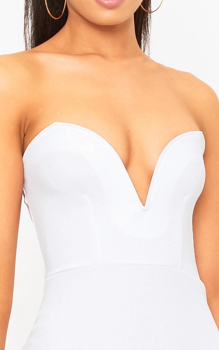 White Bandeau Bodycon Dress  5