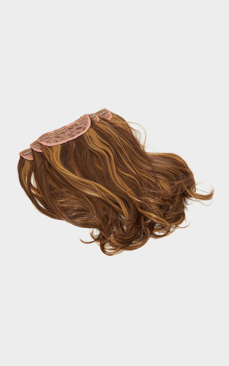 LullaBellz Super Thick 16'5 Piece Blow Dry Wavy Clip In Hair Extensions Blondette 5