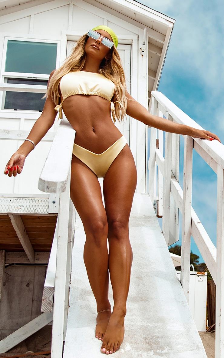 Lemon High Neck Side Boob Bikini Top 3