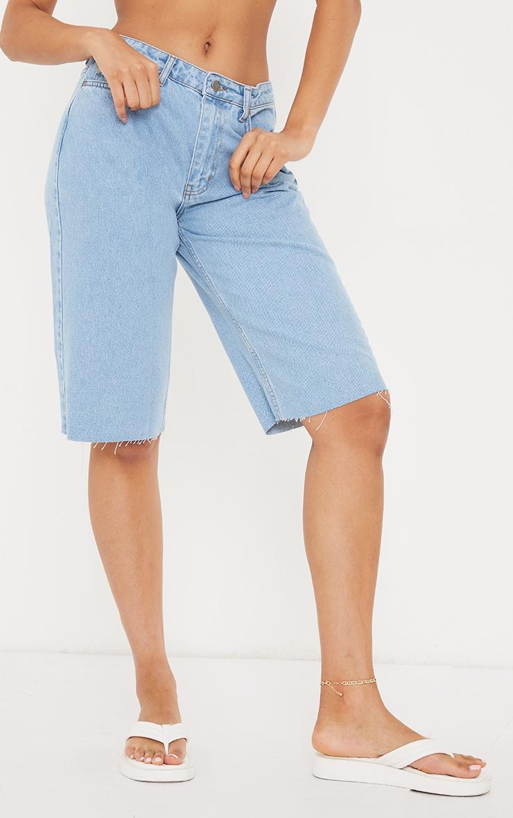 Light Blue Wash Belted Mom Fit Jeans 2