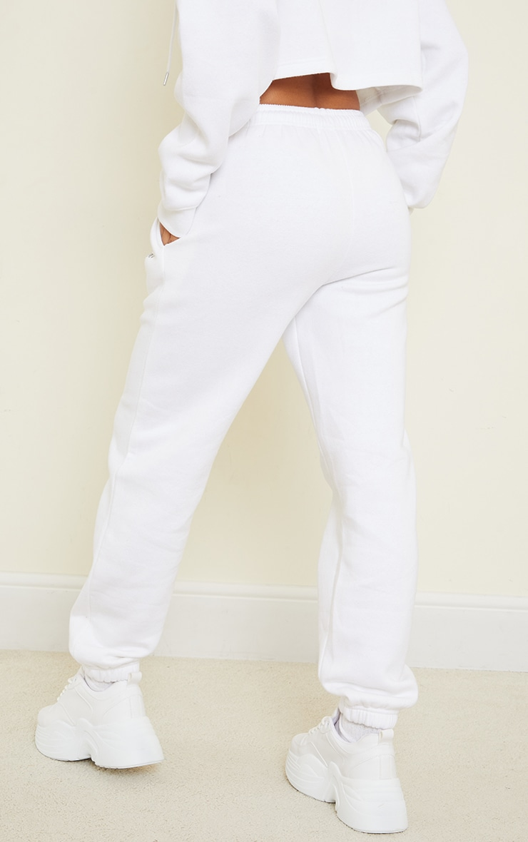 PRETTYLITTLETHING White Copyright Graphic Joggers 3