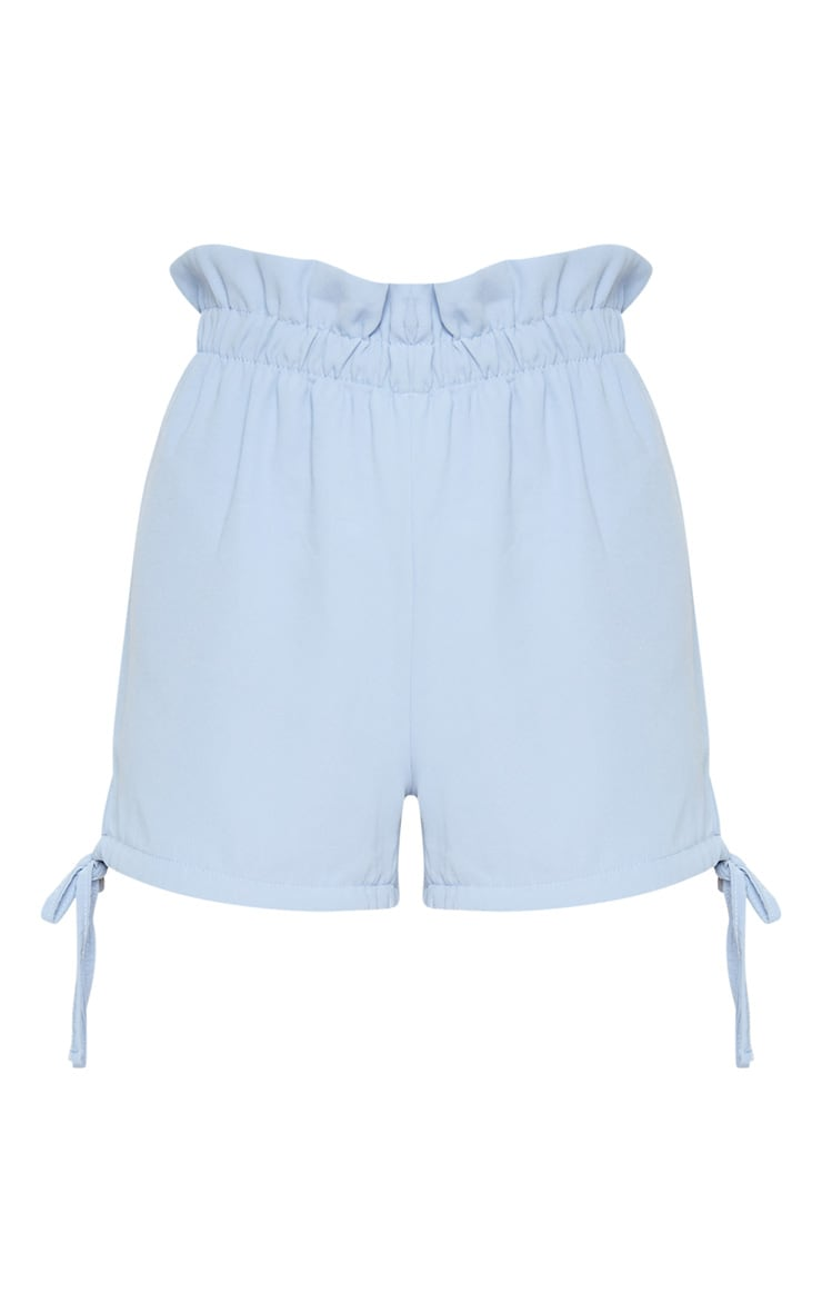 Blue Tie Hem Detail Short 3