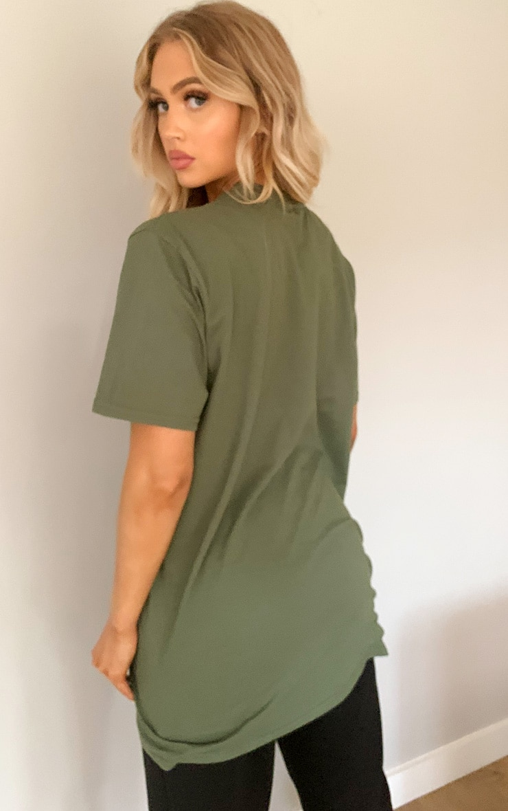 PRETTYLITTLETHING Khaki Official T Shirt 2