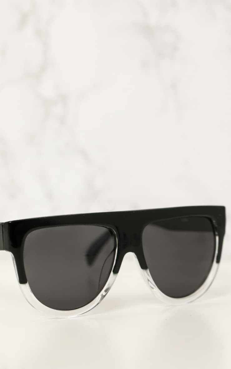 Kristen Black & Clear Frame Sunglasses 3