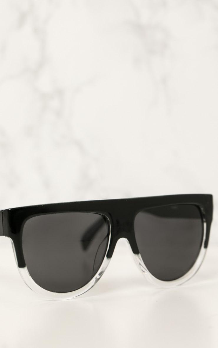 Kristen lunettes de soleil à monture noire et transparente 3