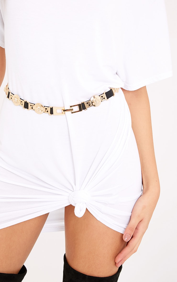 Lani Black Medusa Detail Waist Belt 1