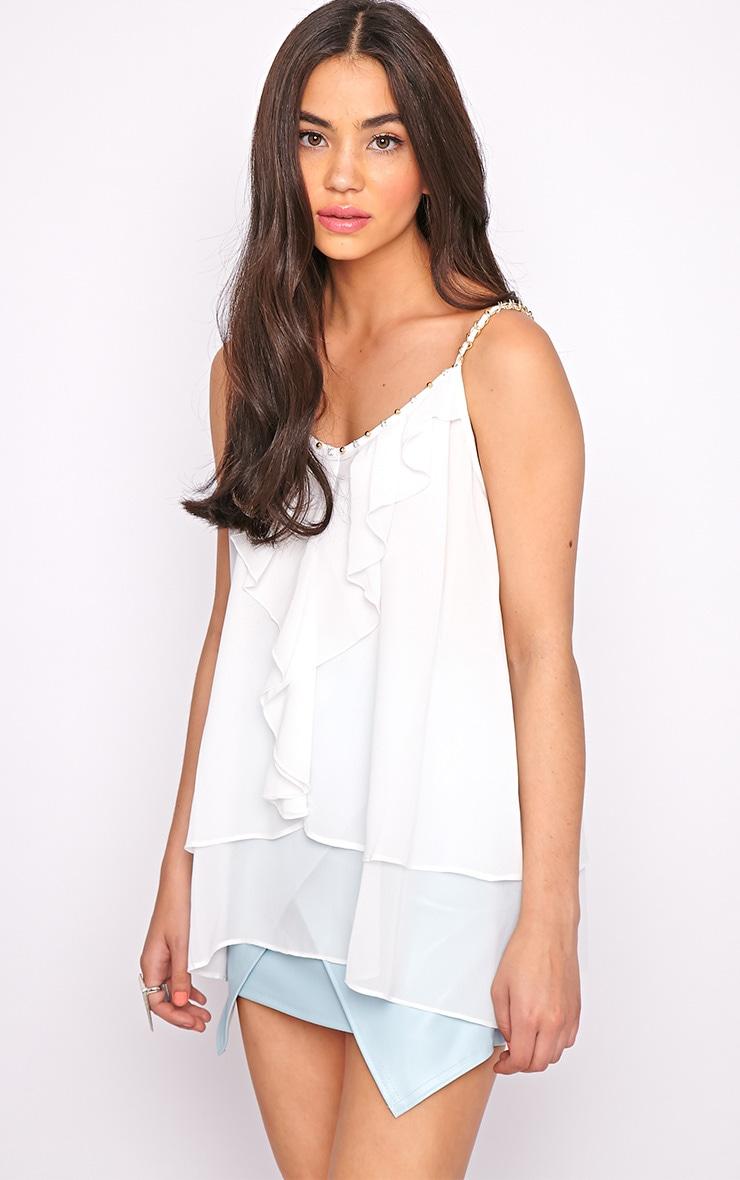 Jessy White Chain Swing Vest 1