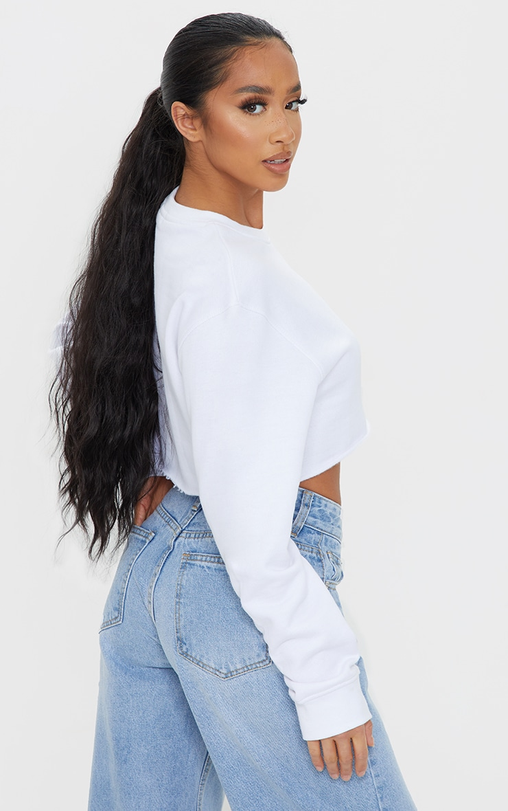 Petite White Ultimate Cropped Sweater 2