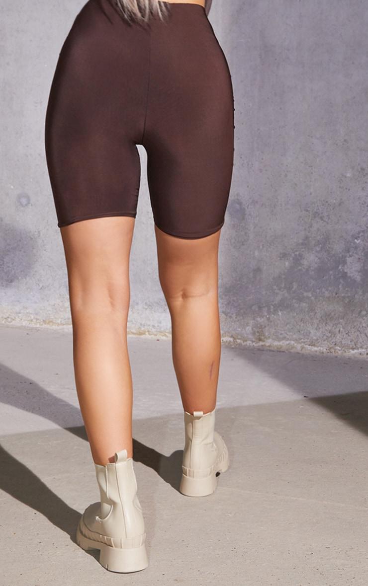 Dark Brown Slinky Bike Shorts 3