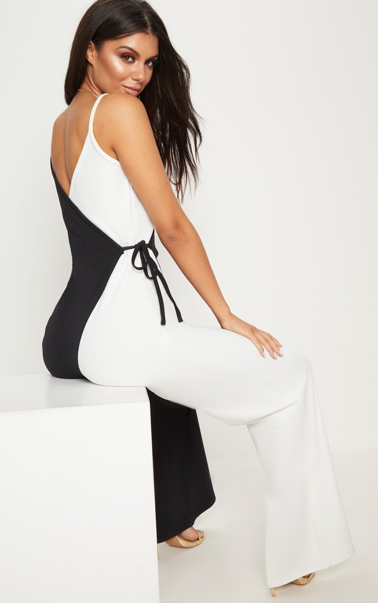 Monochrome Wrap Jumpsuit 2