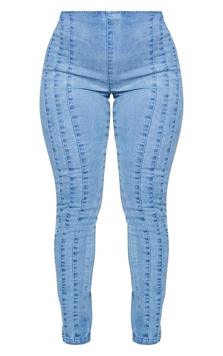 Shape Vintage Denim Seam Detail High Waist Skinny Jeans 5