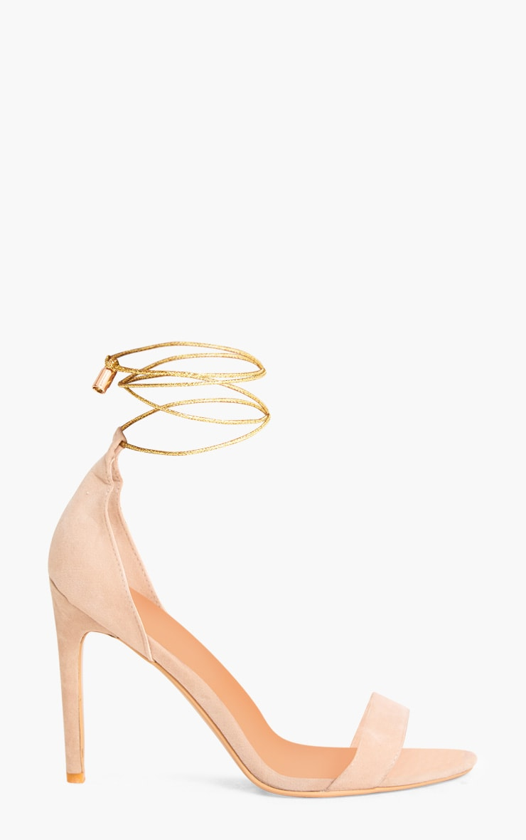 Nude Knotted Strappy Heels 3